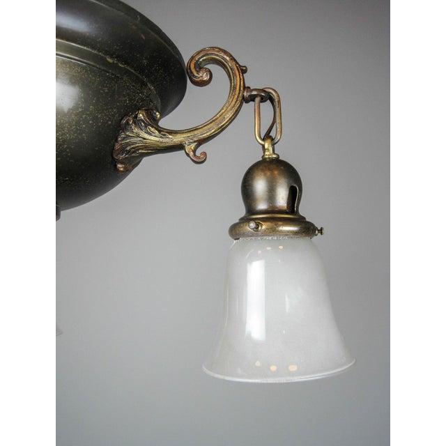 Original Arts & Crafts Bowl Light Fixture For Sale - Image 4 of 11