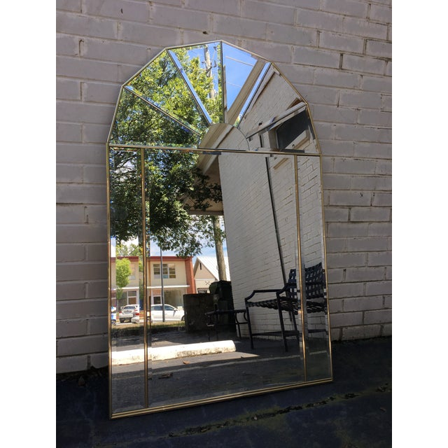 Brass Sculptural Hollywood Regency Mirror - Image 2 of 7