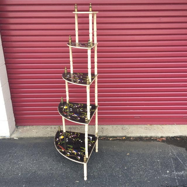 Chinoiserie 5 Tier Corner Shelf For Sale - Image 4 of 11