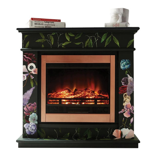 The One Who Swallowed the Universe, Hand-Painted Electric Fireplace by Atelier Miru For Sale