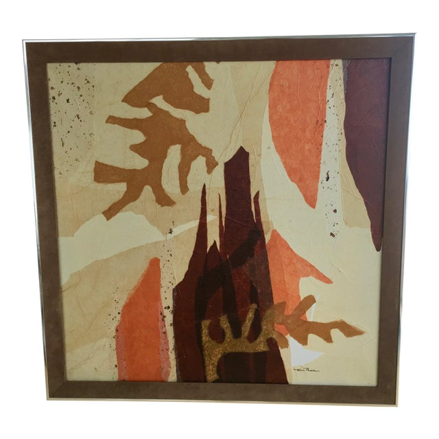 Large Mid-Century Abstract Mixed Media Collage by Tom Paar For Sale