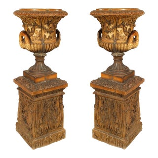 Early 20th Century English Victorian Urns - a Pair For Sale