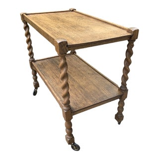 1920s Traditional Style Oak Trolley For Sale