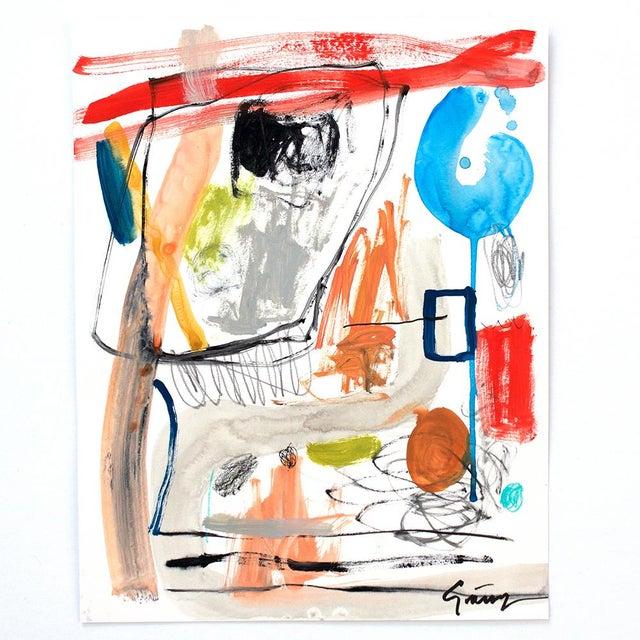 Lesley Grainger 'Narrative' Original Abstract Painting - Image 2 of 3