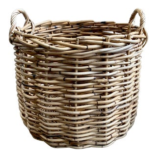 Extra Large Natural Rattan Basket For Sale