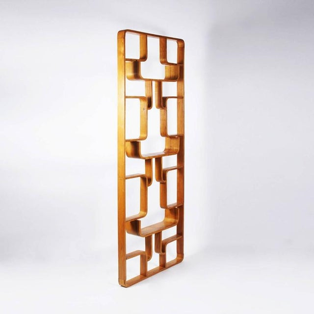 Mid-Century Modern Room Divider by Ludvik Volak for Drevopodnik Holesov, 1960s For Sale - Image 3 of 4