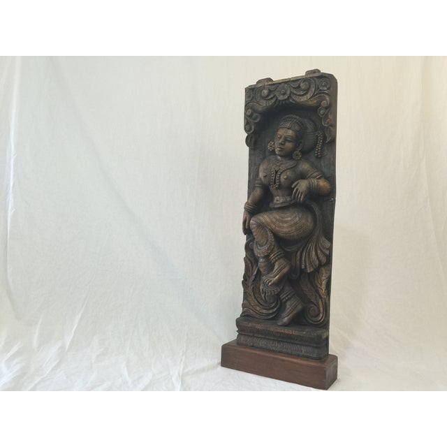 Indonesian Wood Carving on Stand - Image 2 of 11