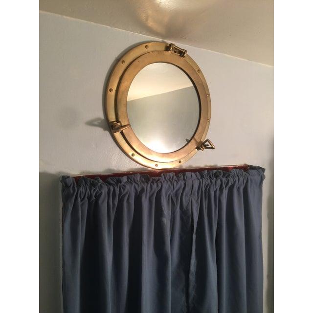 Nautical Brass Porthole Mirror - Image 7 of 8