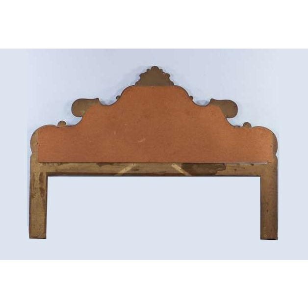 Vintage French Provincial Louis XVI Rococo Gold King Headboard Mirror & Scrolls For Sale - Image 12 of 13