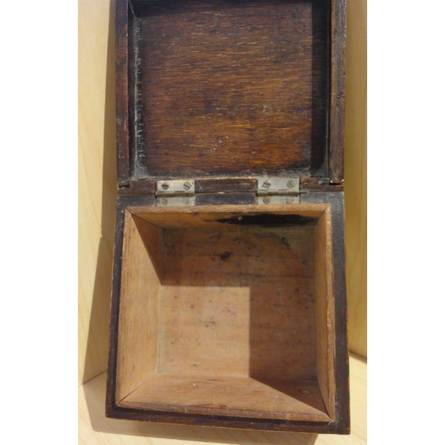 Antique French Wooden Cigarette Box - Image 4 of 4