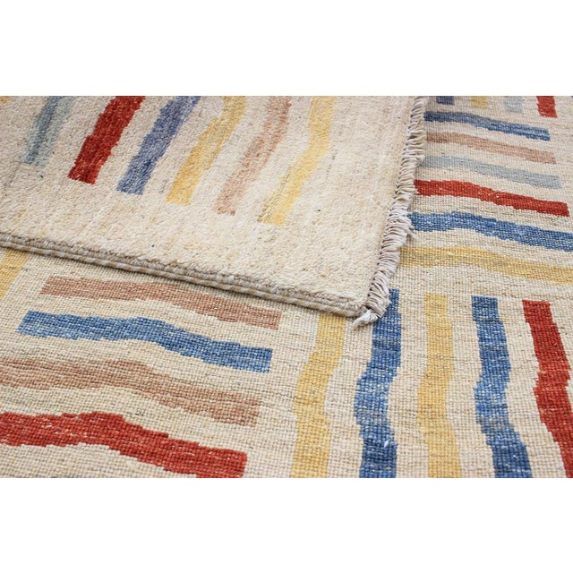 Transitional Hand-Knotted Rug- 6′6″ × 9′10″ For Sale - Image 3 of 5
