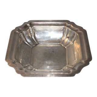 Early 20th Century Windsor International Sterling Silver Trinket Tray Candy Dish For Sale