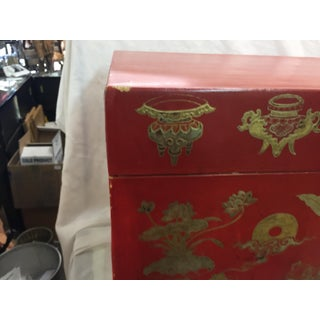 Antique Chinese Leather Trunk on Stand Preview