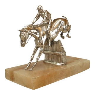 Victorian Bronze Horse and Jockey For Sale