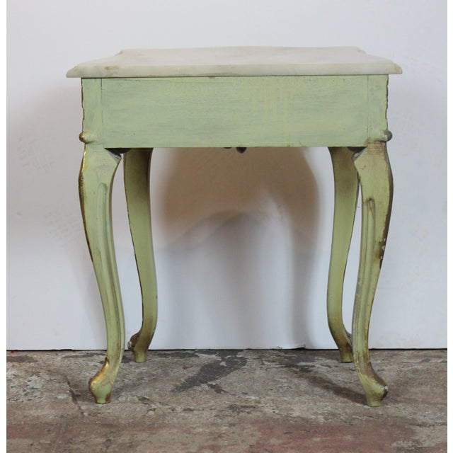 1950s 1950s Italian Marble Top Nightstands - a Pair For Sale - Image 5 of 8