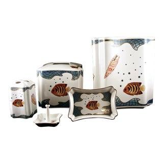 Lynn Chase Designs 'St Tropez' Porcelain Bathroom Set