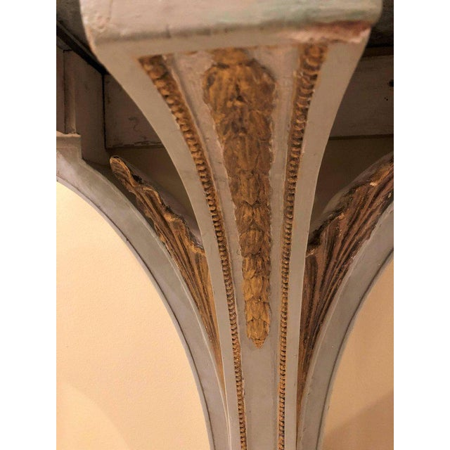 Maison Jansen Hollywood Regency Painted and Marble Demilune Consoles - a Pair For Sale - Image 4 of 12