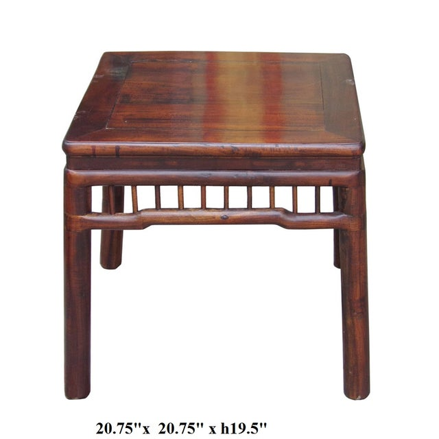 Chinese Handmade Square Side Table - Image 5 of 5