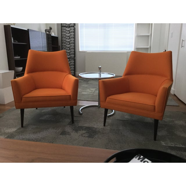 Paul McCobb Orange Squirm Chairs - a Pair For Sale - Image 5 of 5
