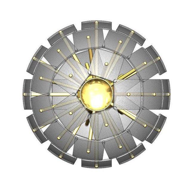 """Arts & Crafts Sputnik Rock Crystal Chandelier, """"Nova"""", Limited Edition For Sale - Image 3 of 7"""
