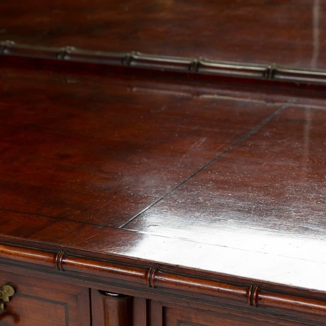 Late 19th Century 19th Century English Pedestal Sideboard With Mirror Back For Sale - Image 5 of 8