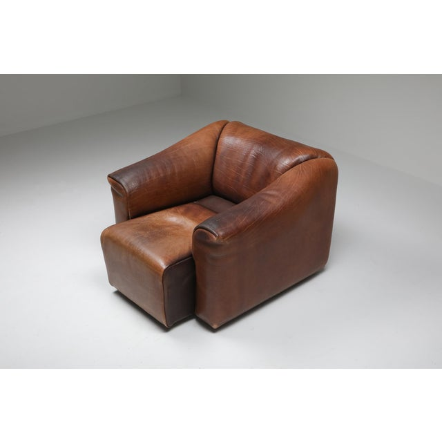 1970s De Sede Ds 47 Brown Leather Armchair For Sale - Image 6 of 10