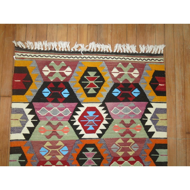 Vintage Turkish Kilim Wool Rug - 2'10'' X 3'9'' For Sale In New York - Image 6 of 7