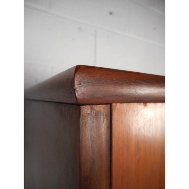 Vintage Modern Credenza With Topper by Stanley For Sale - Image 11 of 13