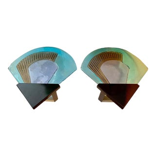 1980s Itre Murano Glass Wall Lights - a Pair For Sale