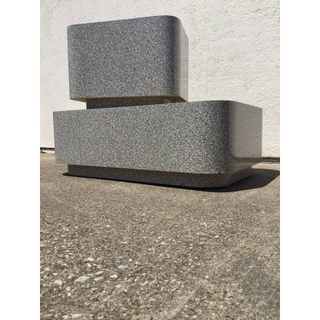 1980s modular granite laminate pedestal tables. They could mix in with an array of looks think modern, eclectic mix,...