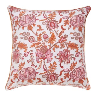 Roller Rabbit Amanda Decorative Pillow Cover - Pink For Sale