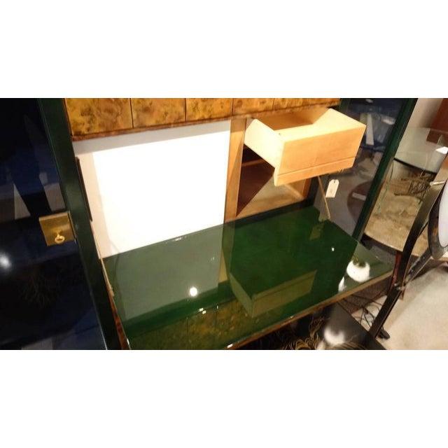 Raphael Raffel Raphael Rare Drop Front Libraire Cabinet in Original Lacquer France circa 1962 For Sale - Image 4 of 10