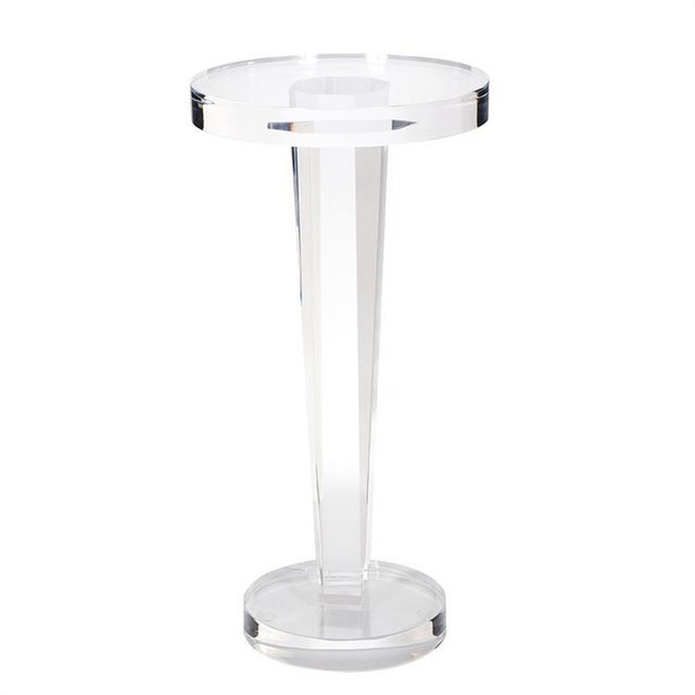 Kenneth Ludwig Clear Acrylic Martini Table For Sale In Chicago - Image 6 of 6