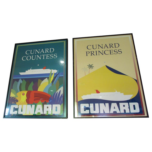1983 Cunard Line Travel Posters - A Pair - Image 1 of 8