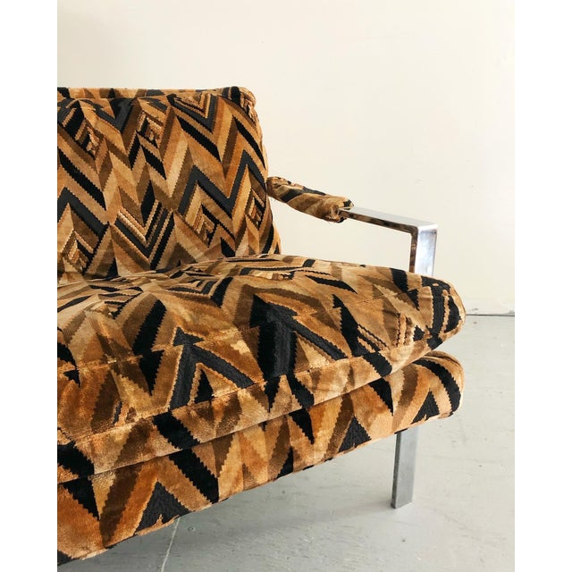 Jack Lenor Larsen Mid Century Modern Milo Baughman Lounge Chair For Sale - Image 4 of 7