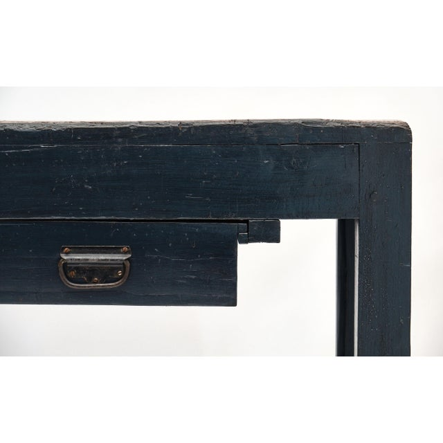 Late 19th Century Antique Italian Blue Painted Work Table For Sale - Image 5 of 10