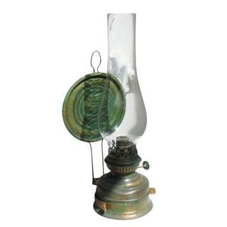Vintage Brass Kerosene Lamp #1