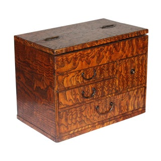 1920s Japanese Mulberry Wood Jewelry Box