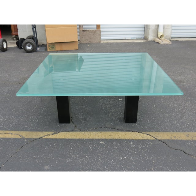 New Italian Square Glass Top Coffee Table - Image 2 of 9
