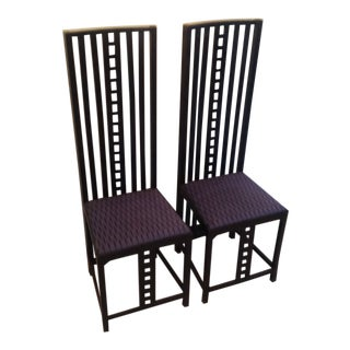 1970s Vintage Mackintosh Style Chairs- a Pair For Sale