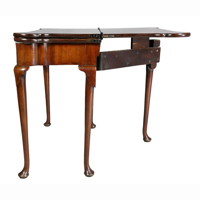 George II Mahogany Triple Top Games Table For Sale - Image 9 of 12