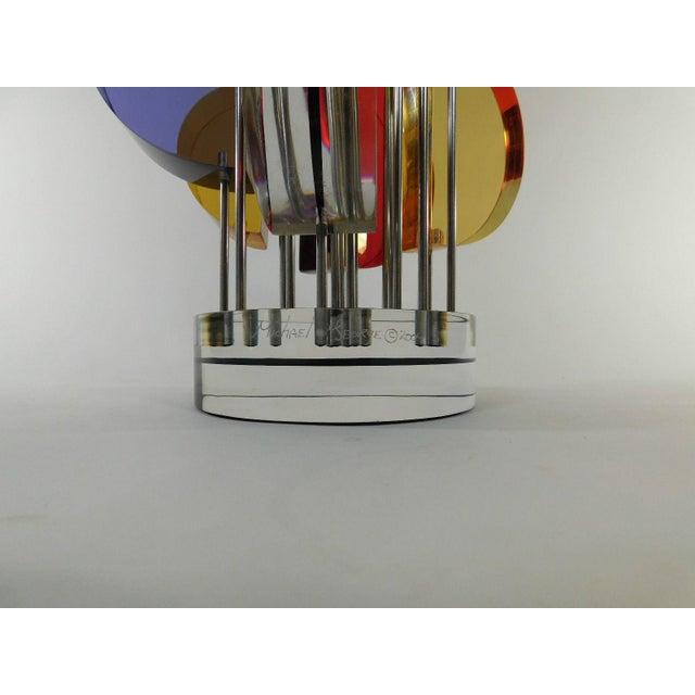 Michael George Sunburst Kinetic Lucite Sculpture - Image 4 of 10