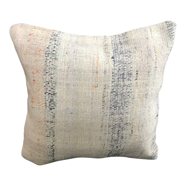 Turkish Kilim Wool Handwoven Pillow Cover For Sale