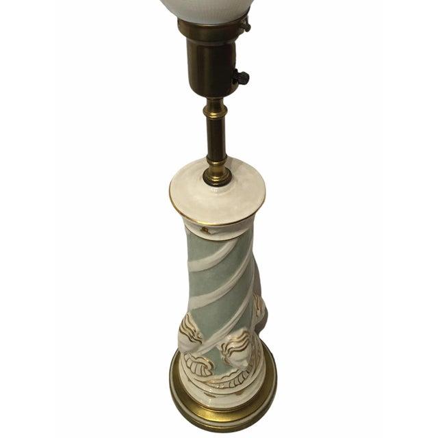 Vintage Ceramic Hollywood Regency Table Lamp by Rembrandt For Sale In San Francisco - Image 6 of 9