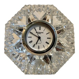 "Waterford Crystal ""Diamond"" Clock For Sale"