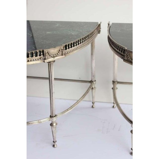 Art Deco 1930's Vintage Jansen Style Demilune Tables- A Pair For Sale - Image 3 of 3