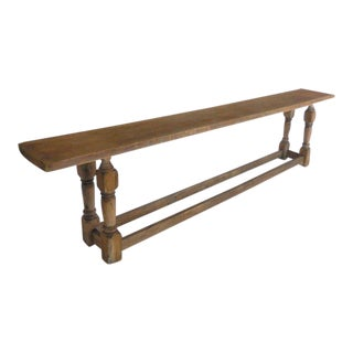 19h Century Japanese Rustic Large Scale Narrow Console For Sale