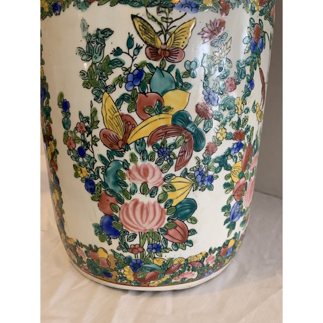 Mid 19th Century Chinese Porcelain Cane Stand For Sale In South Bend - Image 6 of 9