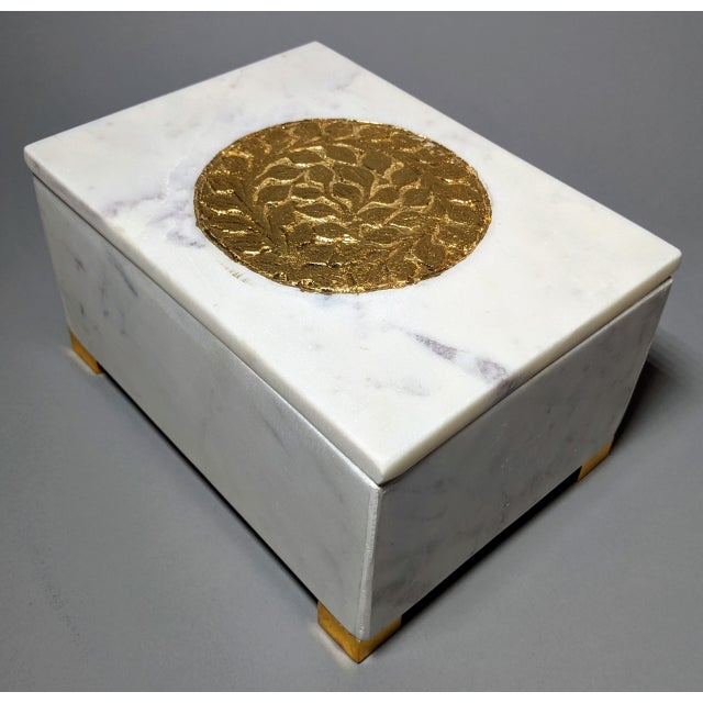 Gold and White Decorative Box For Sale - Image 13 of 13