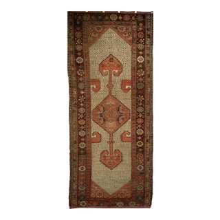 Early 1900s Malayer Camelhair Runner- 3′2″ × 7′2″ For Sale